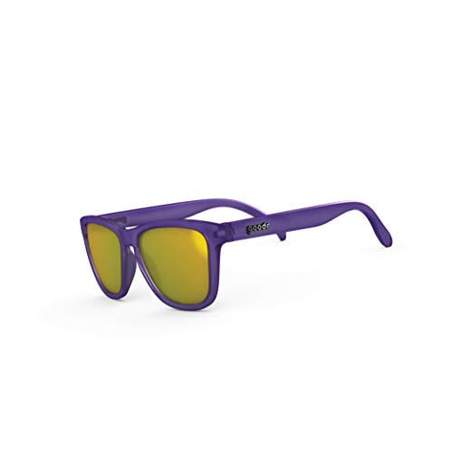 (goodr OG Sunglasses (no slip, no bounce, all polarized) (Tiger's Throwing Shade, Gold))