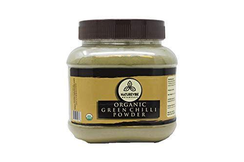 Naturevibe Botanicals Organic Green Chilli Powder (8oz) | Non-GMO and Gluten Free | Adds Taste and - Powder Chile Green Mexico New