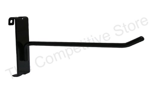 8'' Gridwall Hooks For Grid Panel Display - 50 Pcs Box - 1/4'' Dia Wire - Standard Duty - Black Color by The Competitive Store