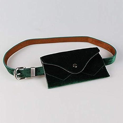 Amazon.com: DeemoShop Moda Mujer Cintura Bolso Material ...