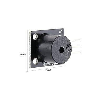 KY-012 Modulo Buzzer attivo per Arduino AVR Pic Attivo Altoparlante Buzzer Modalit/à allarme Accessori per PC Stampante Timer telefono