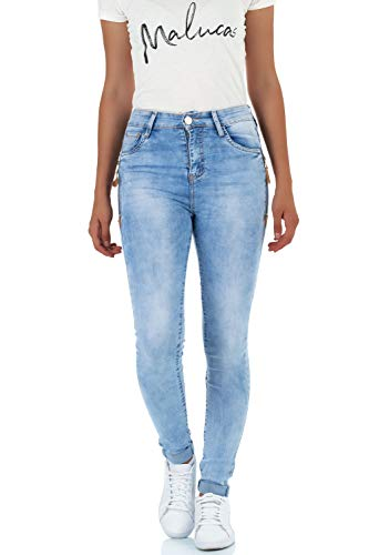 Jeans Femme Bleu Bleu malucas Bleu Skinny a6ZwS7