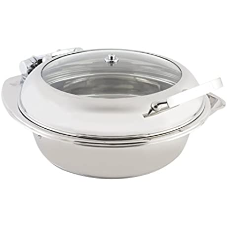 Bon Chef 20300 Stainless Steel Induction Chafing Dish 1 5 Gal Capacity 20 Length X 19 1 2 Width X 8 1 2 Height