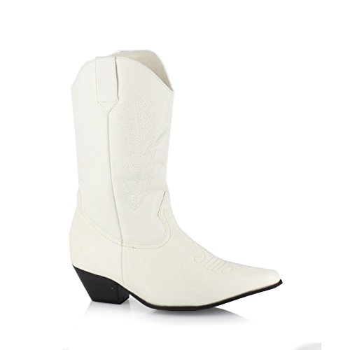 Ellie Chaussures 1.5 Talon Cowboy Bottines Pour Enfants. M Pnkp Whtp