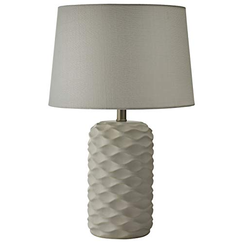 Ceramic Wave Table Lamp - Rivet Modern Wave Table Lamp With  Bulb, 23.25