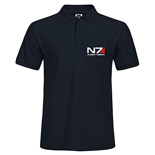 Men Outdoor Sport Wear N7 Academy Program Large Polo Shirt Factory Direct Sale Navy - Gulfport Outlet