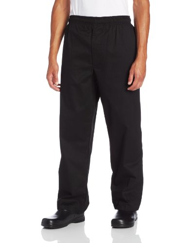 (Dickies Men's Traditional Baggy with Zipper Fly Chef Pant, Black Medium)