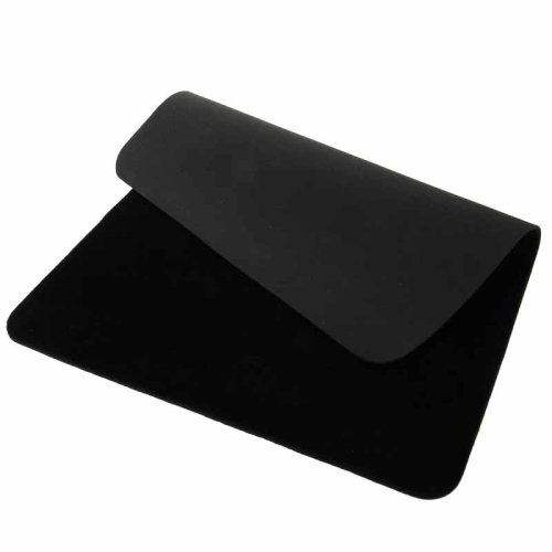 Berocia Professional Card Mat Poker Pad Magic Props, Close-up Pad with Thicked Exquisite Velvet Surface (Black 16.512.5 inch)