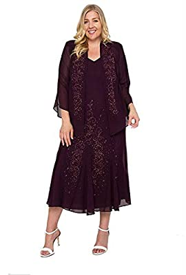 R&M Richards Long Mother of The Bride Plus Size Dress Made in USA