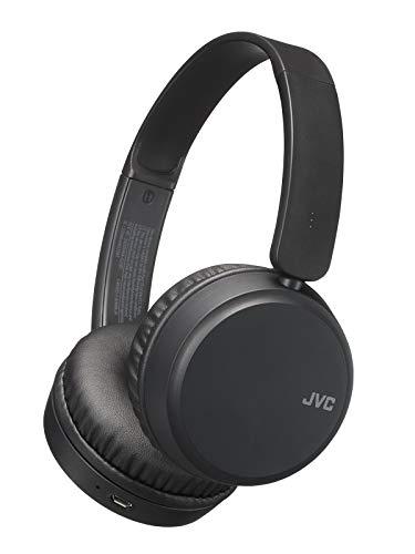 JVC Deep Bass Wireless Headphones, Bluetooth 4.1, Bass Boost Function, Voice Assistant Compatible, 17 Hour Battery Life – HAS35BTB(Black)