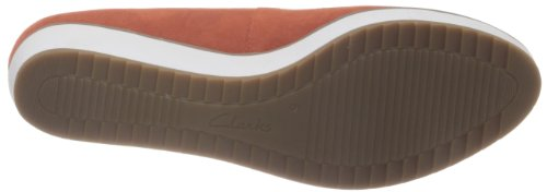 Clarks Compass Zone 203588934 - Bailarinas de cuero para mujer Blanco (Weiß (Orange Suede))