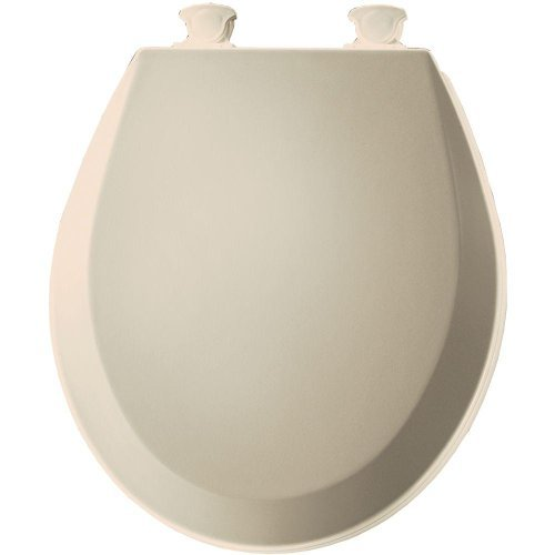 Bemis 500EC146 Molded Wood Round Toilet Seat With Easy Clean and Change Hinge, Almond by Bemis