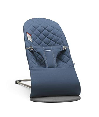 BABYBJORN Bouncer Bliss, Midnight Blue, Cotton (Feel Bouncer)