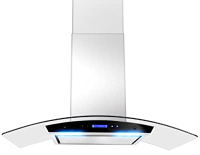 "GOLDEN VANTAGE 30"" GV198KZ4-30 European Style Wall Mount Stainless Steel Range Hood Vent Touch Panel Control Unique Flat Baffle Filter Design"