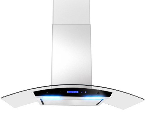 GOLDEN VANTAGE 30″ GV198KZ4-30 European Style Wall Mount Stainless Steel Range Hood Vent Touch Panel Control Unique Flat Baffle Filter Design