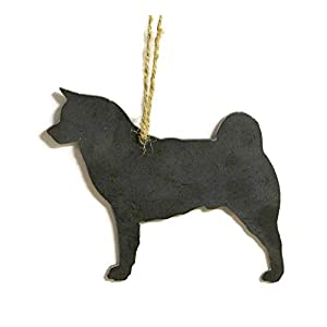 Akita Dog Metal Christmas Ornament Tree Stocking Stuffer Party Favor Holiday Decoration Raw Steel Gift Recycled Nature Home Decor 46