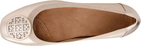Clarks Mujeres Candra Blush Gold Metallic Leather Shoe