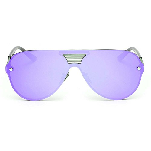LOMOL Fashion Trendy Metal Frame Reflective Lens UV Protection Personality - Online India Eyeglasses Wayfarer