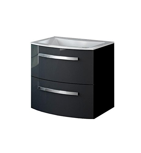 LaToscana PA22OPT1 Palio 22 inch Modern Bathroom Vanity with Chrome Handles, 2 Slow Close Drawers and Matching Painted Glass Sink Top With Finish: Glo