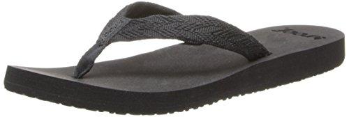 Reef Women's Mid Seas Flip Flop,Black/Black,6 M US