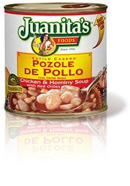 Juanitas Soup, Chicken & Hominy, with Red (Juanitas Chile)