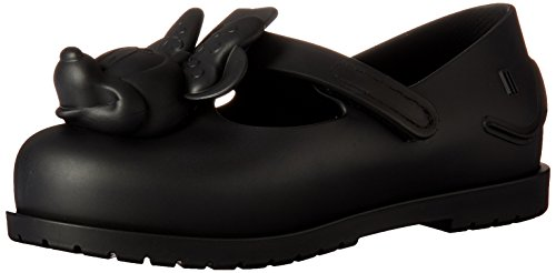 Flat Girls Classic (Mini Melissa Girls' Mini Classic Baby + Mickey and Friends Mary Jane Flat, Black, 11 Medium US Little Kid)