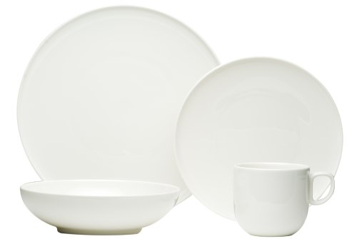 (Red Vanilla Everytime White 24-Piece Dinnerware Set )