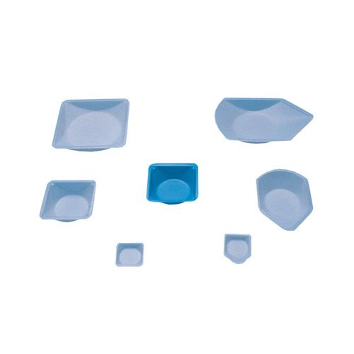 Fisher Scientific 08-732-112 Fisherbrand Antistatic Weighing Dish, Polystyrene, Natural, 8 mm Height, 41 mm Width, 41 mm Length (Pack of 500) by Fisher Scientific