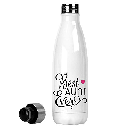 Best Aunt Ever Printed 17 oz Insulated Soda Water Bottle