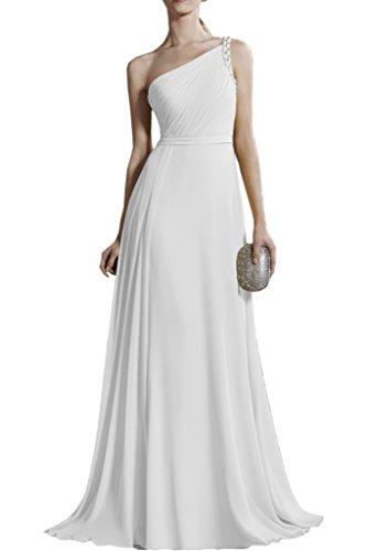 Traeger EIN Brautjungfernkleider mia Braut Chiffon Lang Abendkleider Damen La Gruen Promkleider Weiß Minze xwO0zqYY4