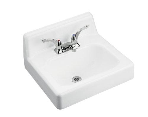 KOHLER K-2868-0 Hudson Wall-Mount Bathroom Sink with 8