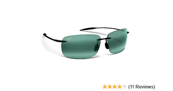 ff476a4dc527 Amazon.com: Maui Jim Mens Breakwall Sunglasses (422) Black Shiny/Grey  Plastic,Acetate - Polarized - 63mm: Sports & Outdoors