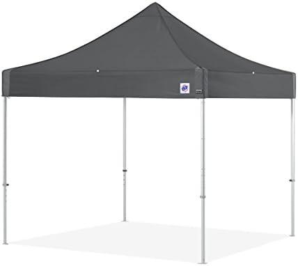 E-Z UP ENDA10KSG Endeavor Instant Shelter pop up Canopy, Steel Gray