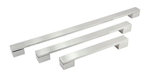 Imex 45485 Series Cabinet Handles (cc 384 mm   oa 409 mm, Brushed Nickel)