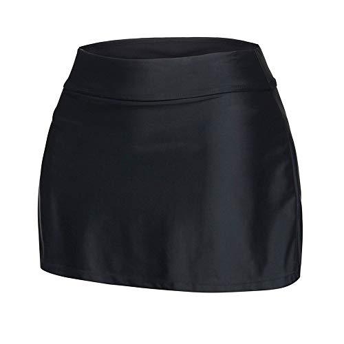Elástica Escritos Mujeres Banda Falda Nadan Negro Con Fortuning's Jds® Sólido Color q1w7HZFIx
