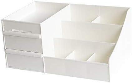 Caja De Almacenamiento Cosmética, Maquillaje Escritorio De Oficina Organizador Plástico Unidad De Cajones De Almacenamiento (Color : White): Amazon.es: Hogar