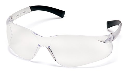 Pyramex Ztek Clear Lens Safety Glasses with Rubber Temples One Pair