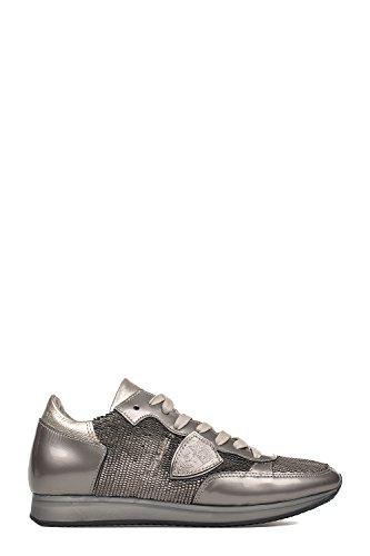 Mujer Cuero Philippe Zapatillas Plata Model Trldyx04 zf55qR0