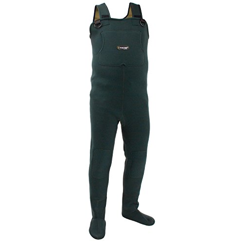 Rubber Waders - Frogg Toggs Amphib Neoprene Stockingfoot Chest Wader, Forest Green, Size X-Large