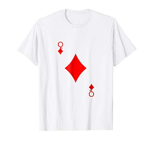 Queen of Diamonds Costume Shirt Halloween Playing Card -