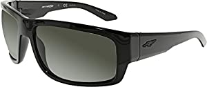 Arnette Men's Grifter Polarized Rectangular Sunglasses, Black, 62 mm