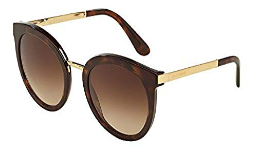 Dolce & Gabbana Women's DG4268 Gold/Brown Gradient Sunglasses from Dolce & Gabbana