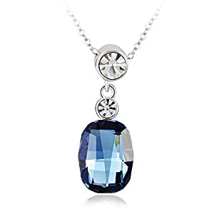 ZMC Women's Blue Black Pendant Necklace