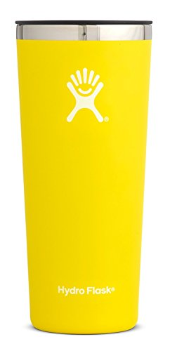Hydro Flask 22 oz Double Wall Vacuum Insulated Stainless Steel Travel Tumbler Cup with BPA Free Press-In Lid, Lemon by Hydro Flask