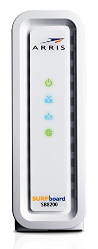 Next-Generation ARRIS SURFboard SB8200 DOCSIS 3.1 Cable Modem - Retail Packaging- White