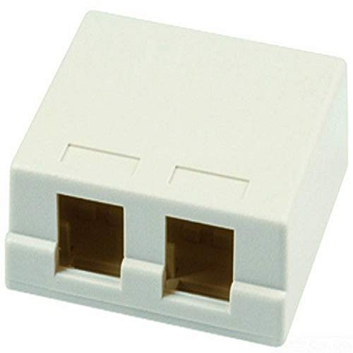 Allen Tel Products AT33D-15 Versatap Shuttered Surface Mount Box, 2 Ports, With Tamper Resistant Cover And Adhesive…