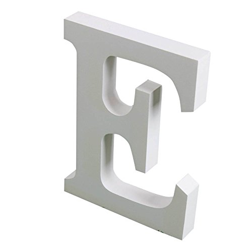 Yuxule Large White Wooden Letters Crafts Home Office Wall Wedding Party Birthday Decorations(Hight:15cm/6
