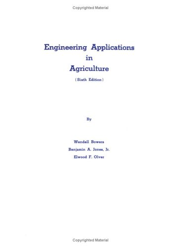 Engineering Applications in Agriculture