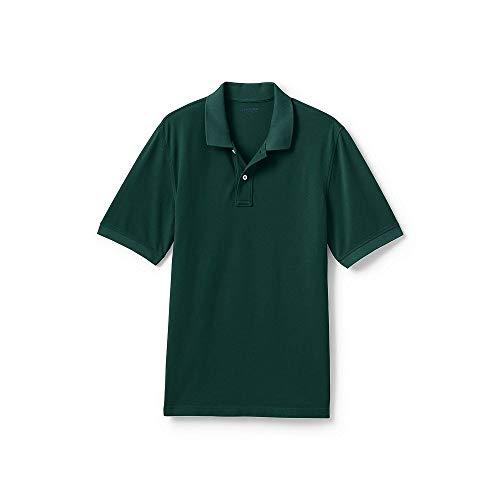 Lands' End Men's Mesh Short Sleeve Polo Shirt, M, Fresh Spruce