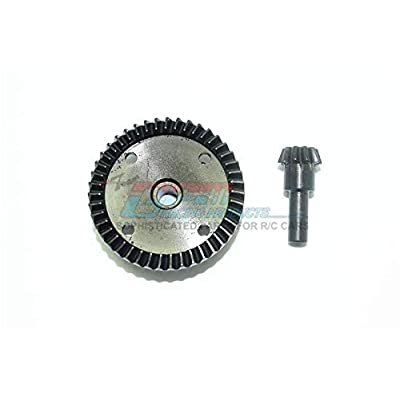 Arrma KRATON / Outcast / Notorious / Talion 6S BLX Upgrade Parts Harden Steel #45 Diff Bevel Gear 43T & Pinion Gear 10T - 2Pc Set Black: Toys & Games